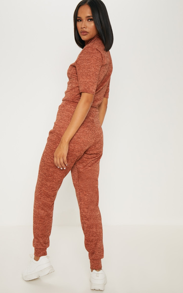 Rust Knitted Jogger Set 2