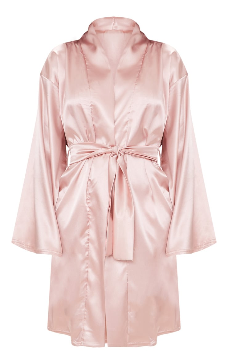 Dusty Pink Satin Robe 3