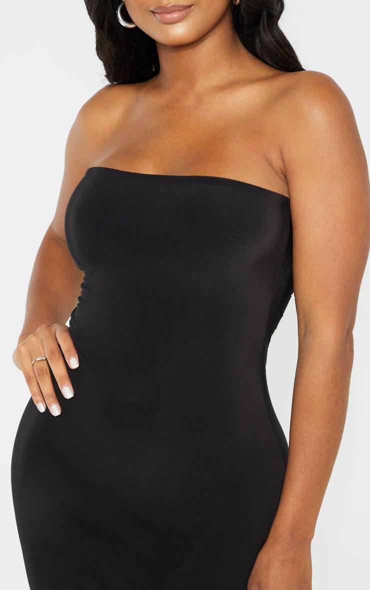Shape Black Slinky Bandeau Midi Dress 5