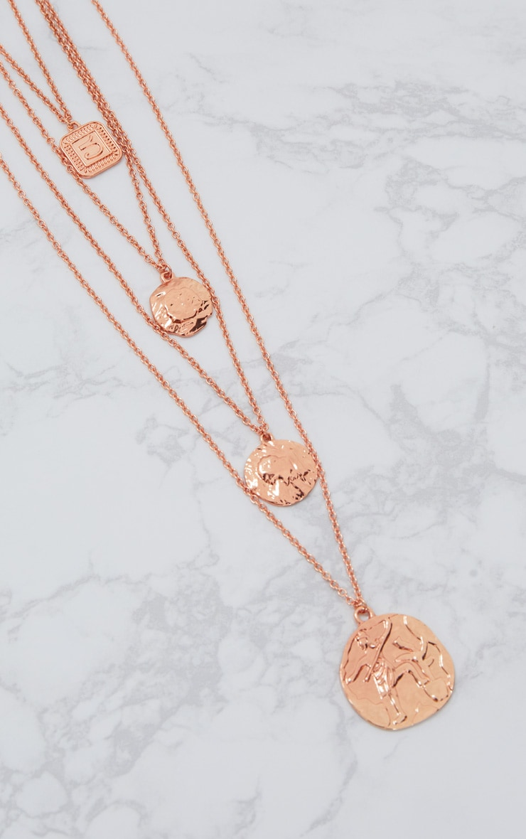 Rose Gold Multi Layer Necklace 3