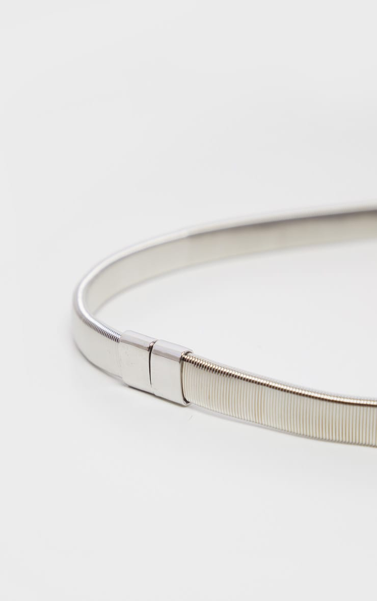 Silver Diamante Statement Buckle Waist Belt 3
