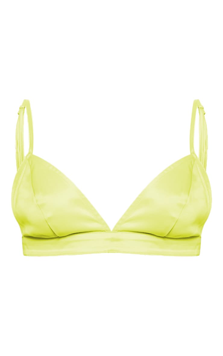 Lime Satin Bralet 3