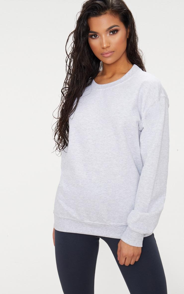 Recycled Ash Grey Oversized Sweatshirt 1