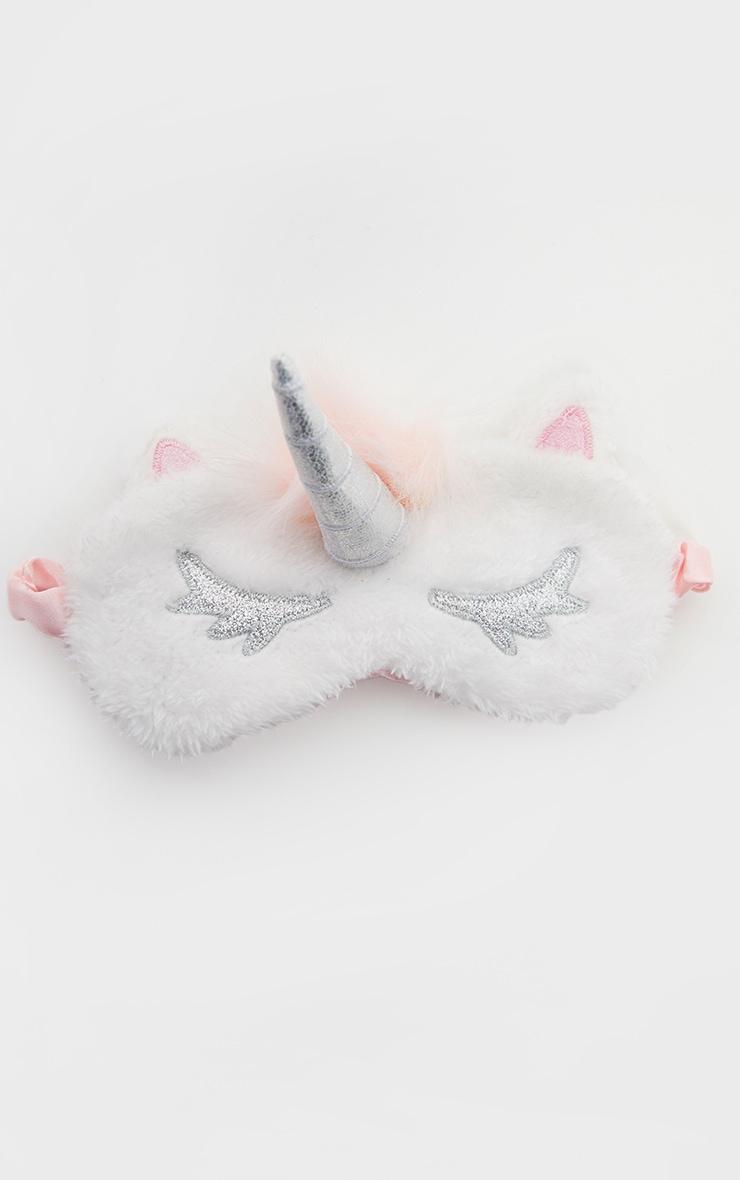 White Glitter Unicorn Sleep Eye Mask 2