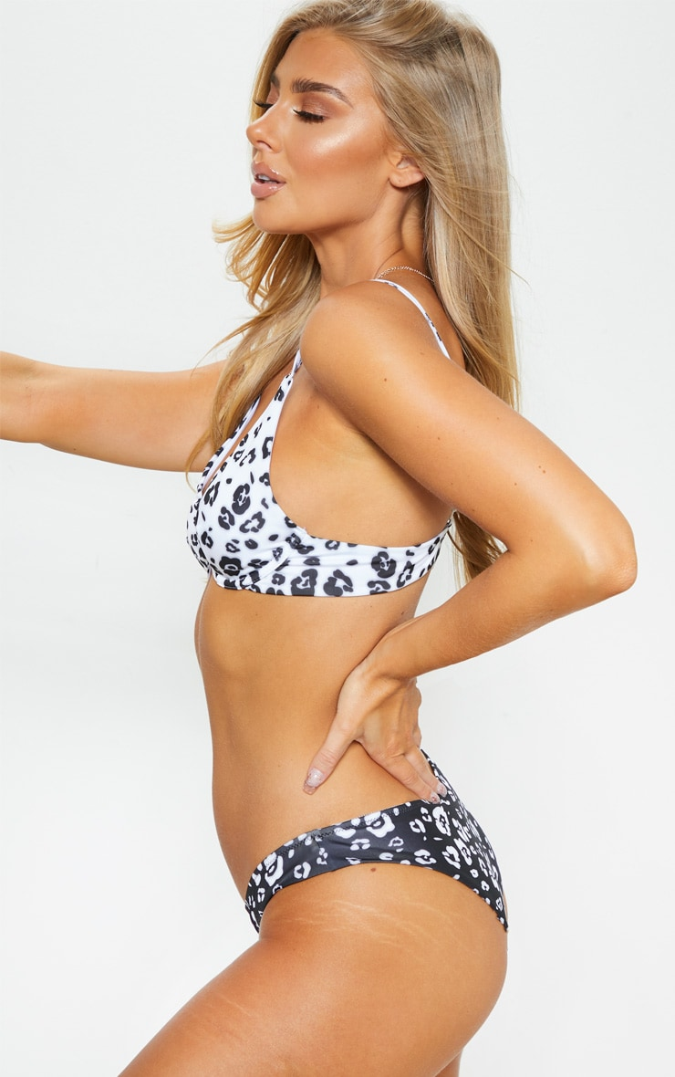 Monochrome Cheetah Underwired Bikini Top 2