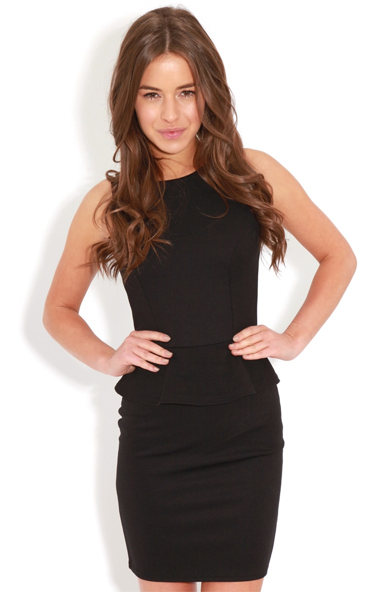 Rylie Black Peplum Dress 1