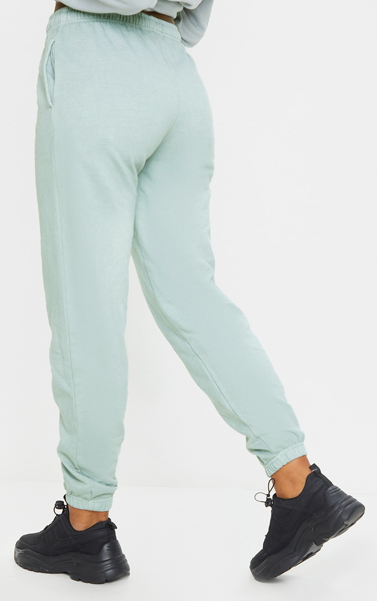 PRETTYLITTLETHING Sage Green Sports Jogger 3