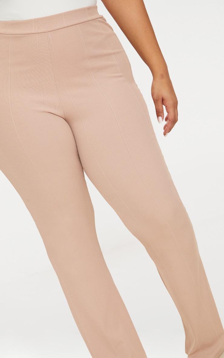 Plus Nude Bandage Flared Trousers 5