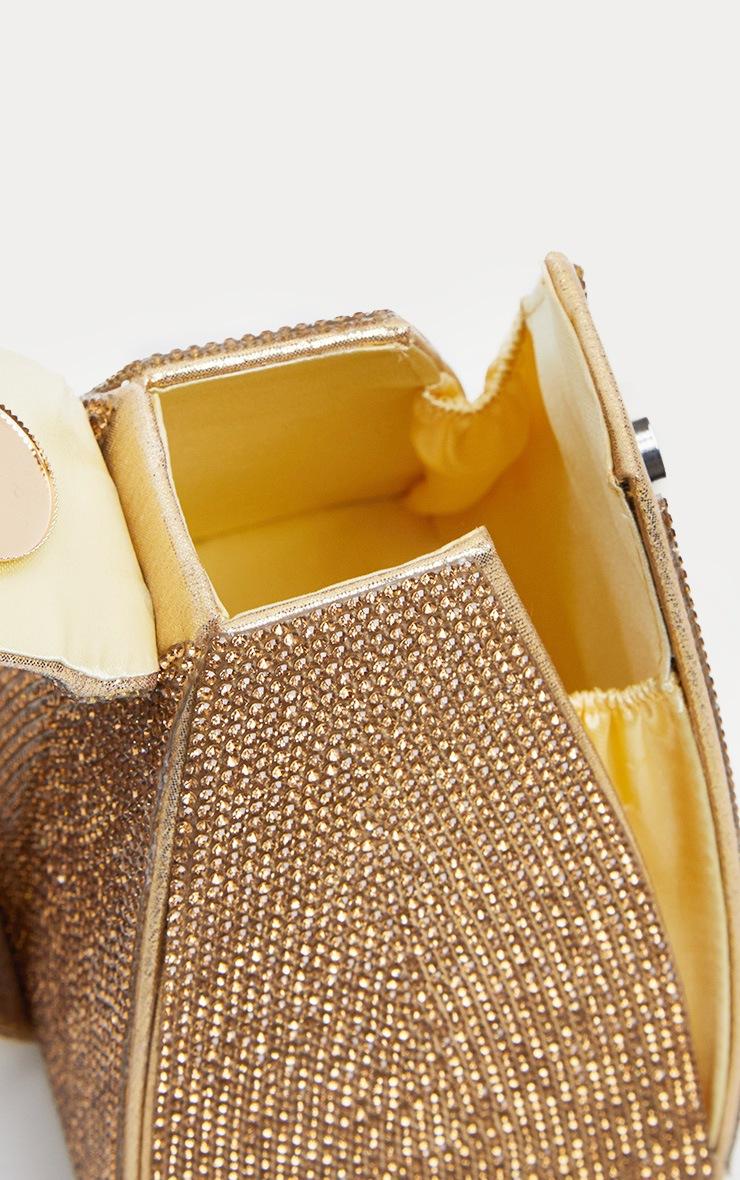 Gold Diamante Pyramid Mini Bag 3