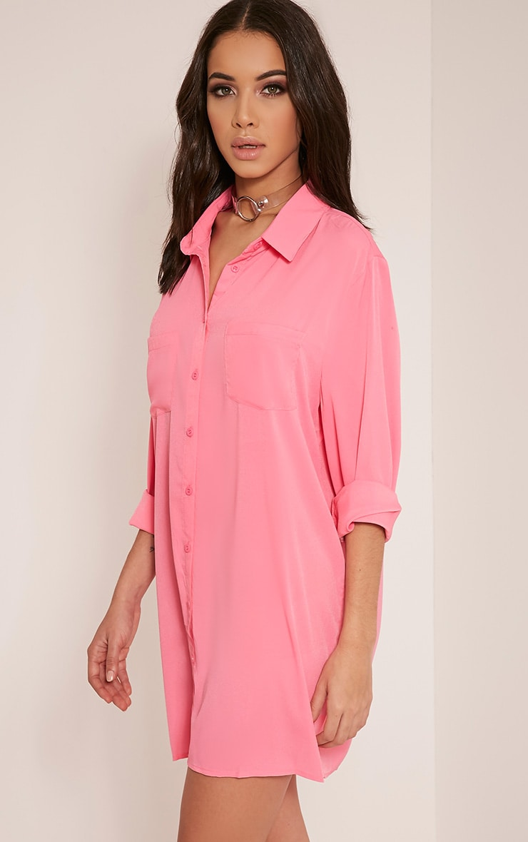 Effy Bubblegum Pink Shirt Dress 8