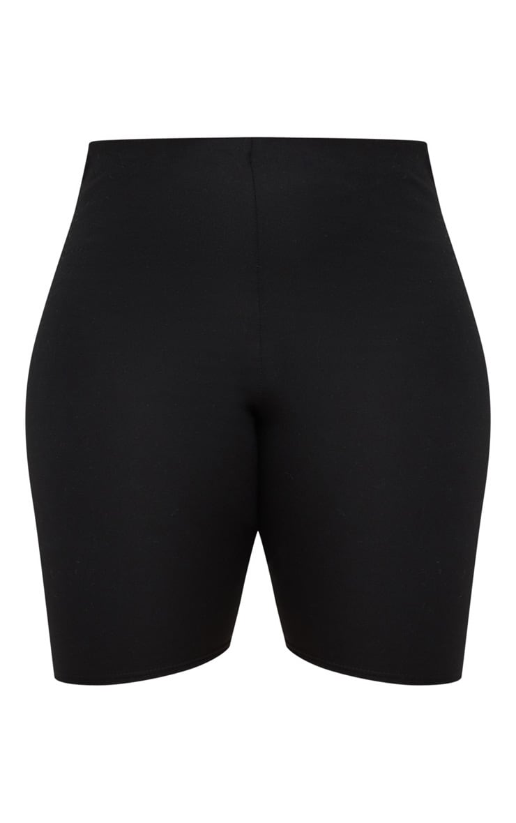 Plus Black Second Skin Bike Shorts 3