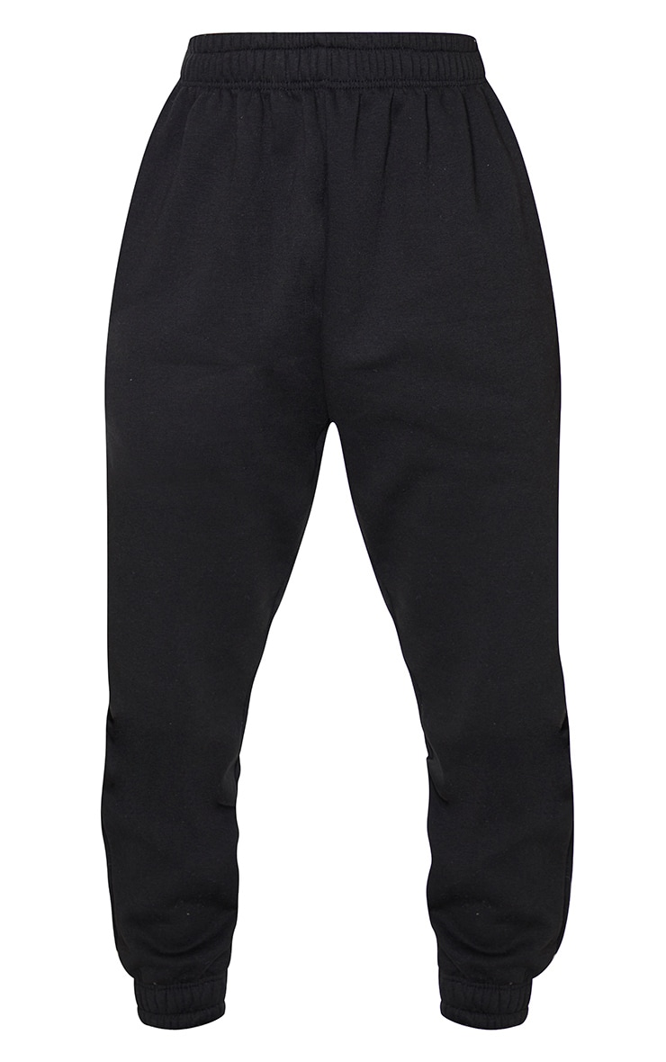 Black Angel Diamante Slogan Joggers 5