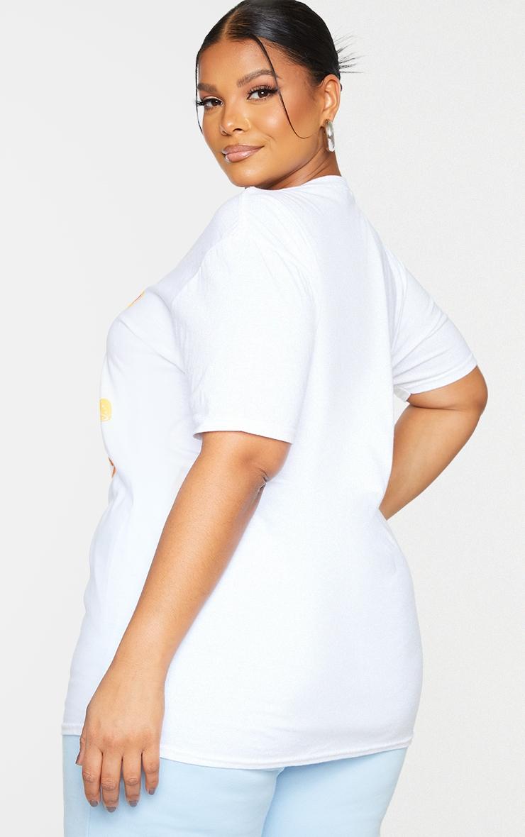 Plus White Peace T Shirt 2
