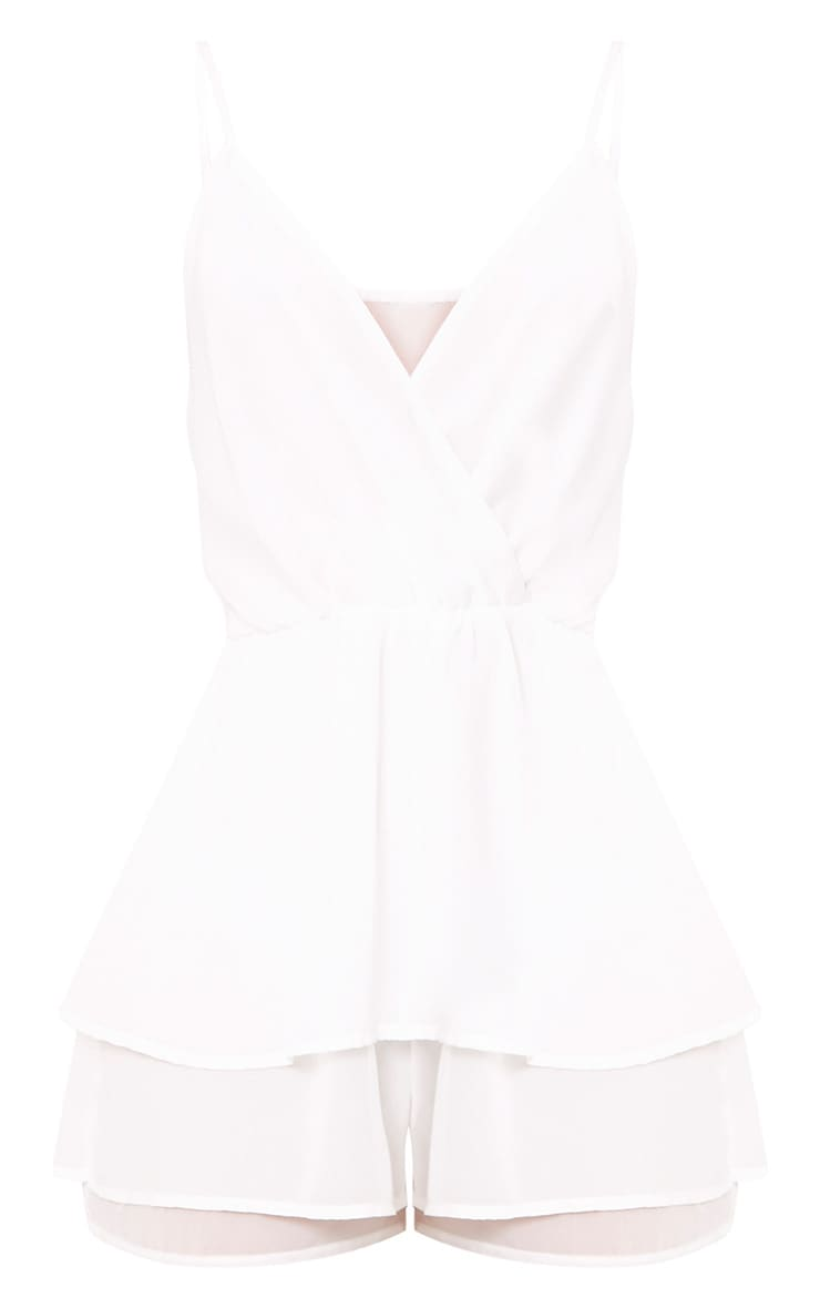 Joney White Frill Layer Playsuit 3
