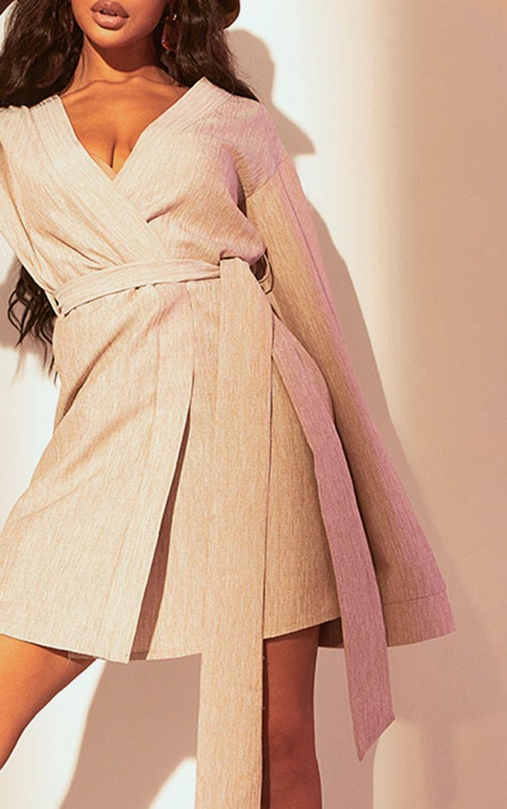 Stone Flare Sleeve Wrap Dress 4