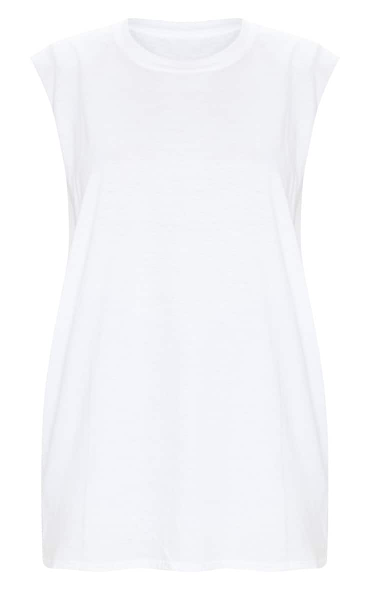 White Drop Armhole Sleeveless Tank Top 5