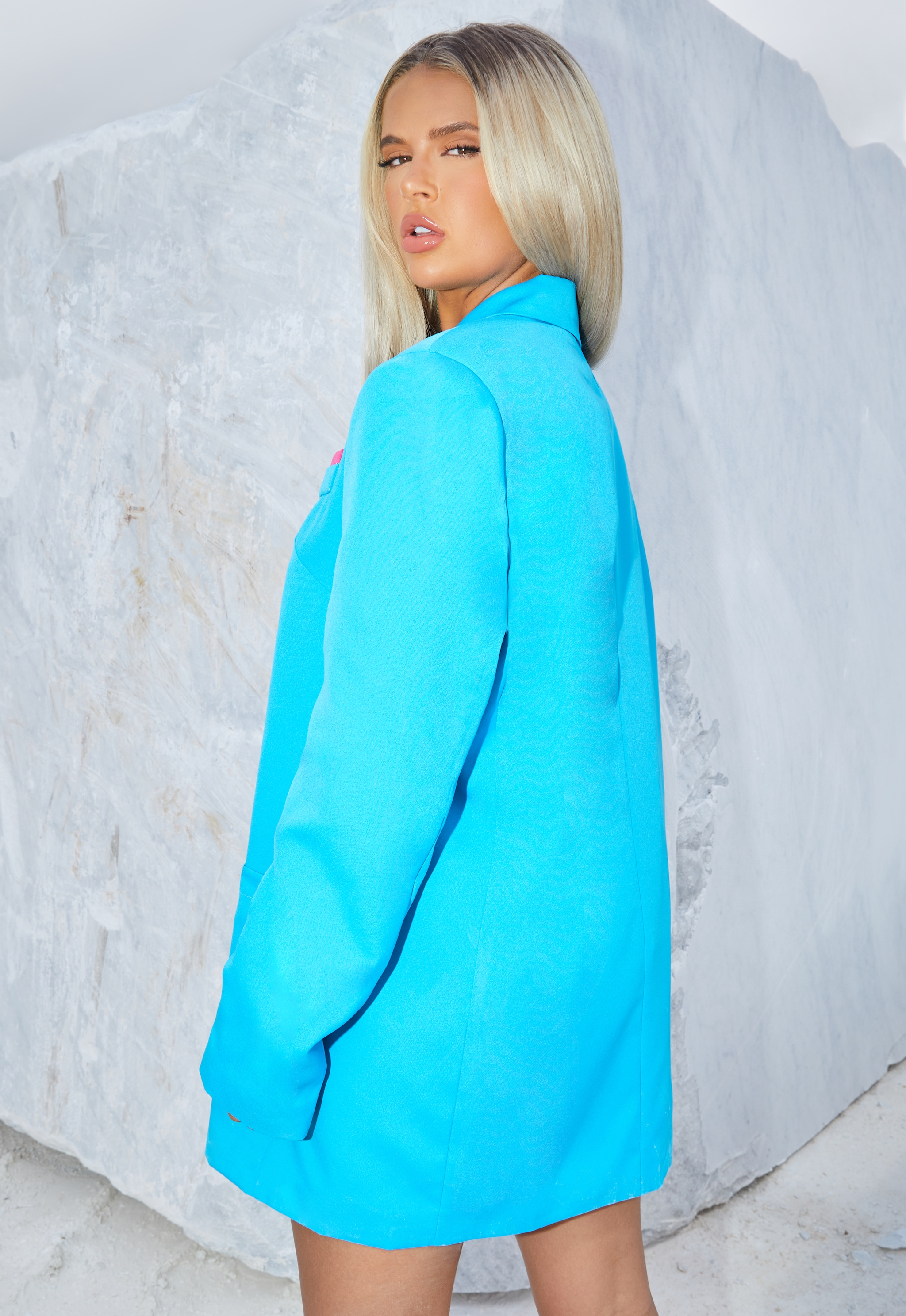 Bright Blue Extreme Oversized Blazer 2