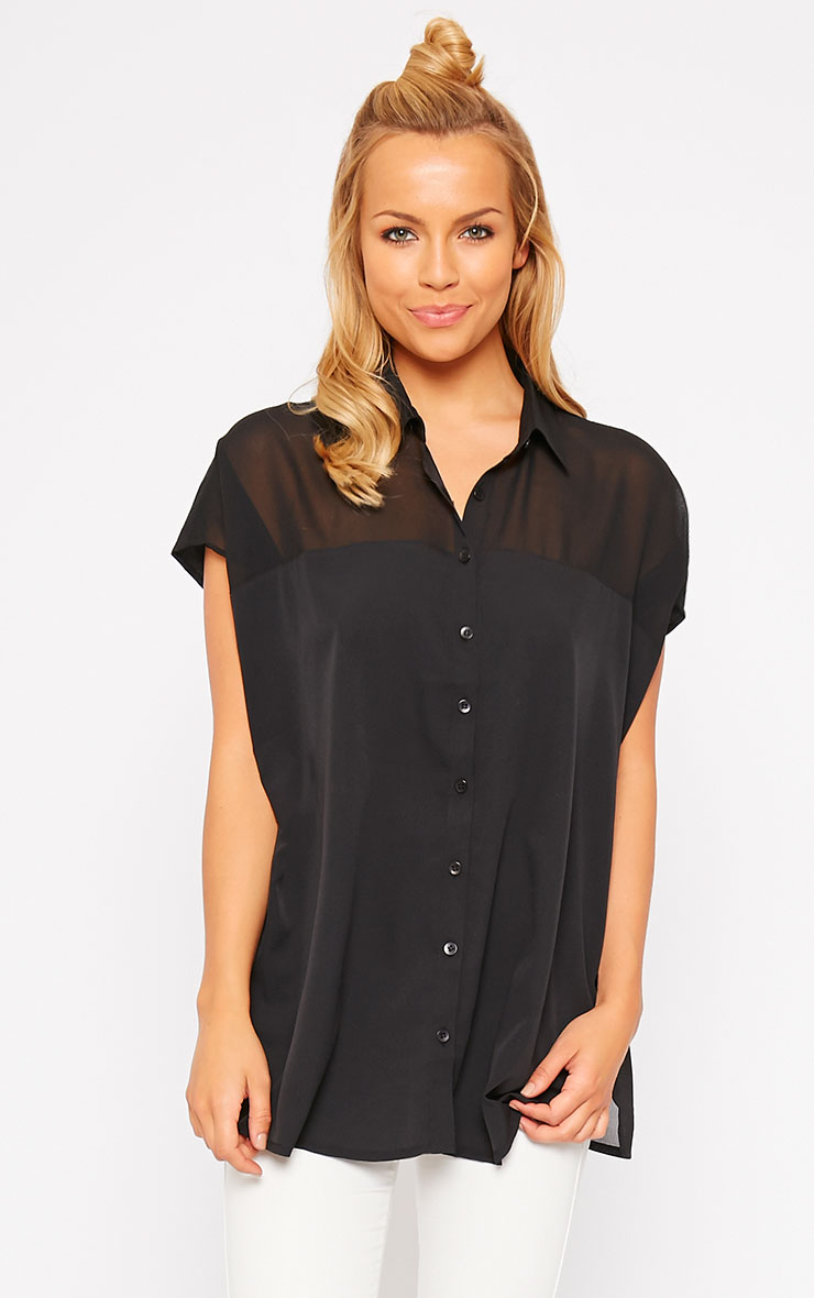 Lilith Black Short Sleeve Shirt 4