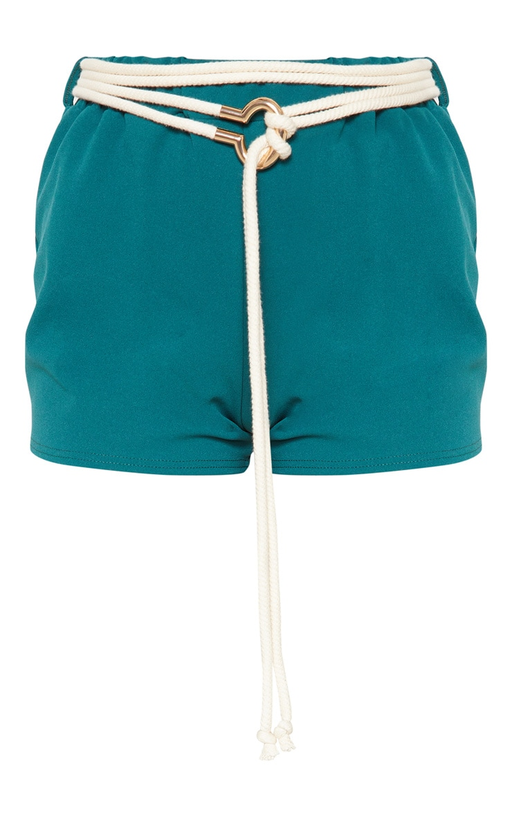 Emerald Green Rope Belt Detail Short 3