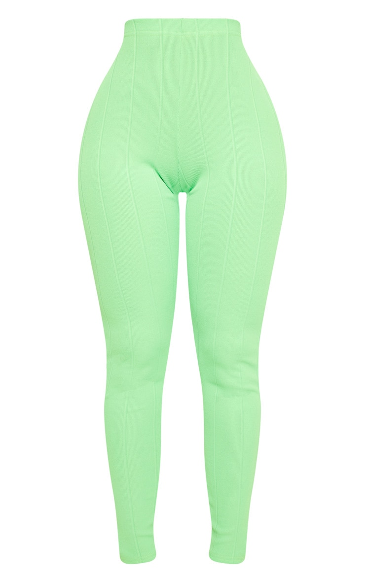 Shape Neon Lime Bandage Legging  3