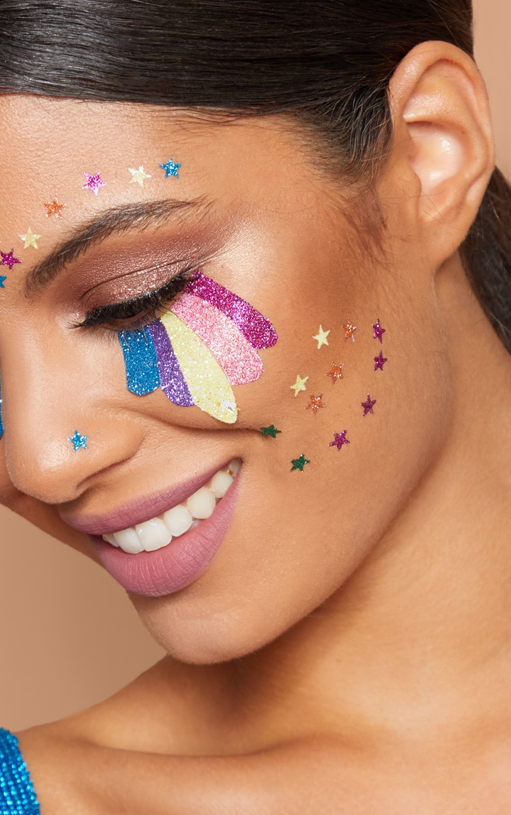 PRETTYLITTLETHING Rainbow Tears Face Jewels 3