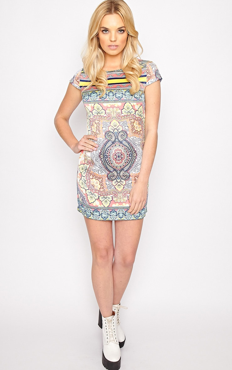 Brooklyn Pink Paisley Print Shift Dress 3