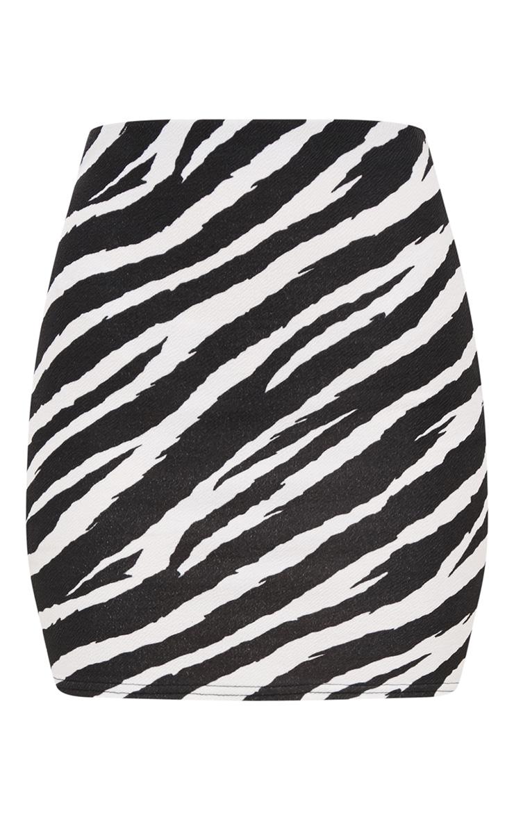 Black Zebra Print Mini Skirt  3