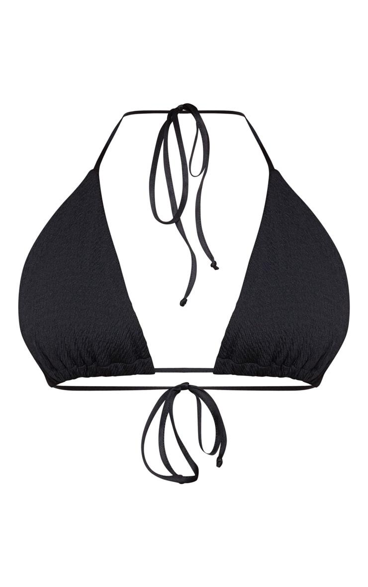 Plus Black Crinkle Triangle Bikini Top 3