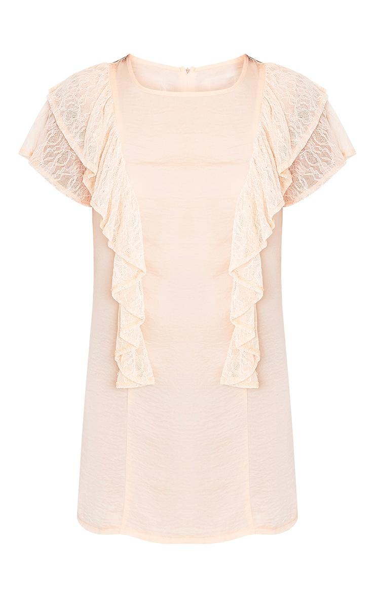 Melyssa Blush Lace Trim Shift Dress 3