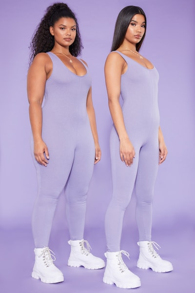 2dd840959fd RECYCLED Plus Violet Scoop Neck Jumpsuit PrettyLittleThing Sticker