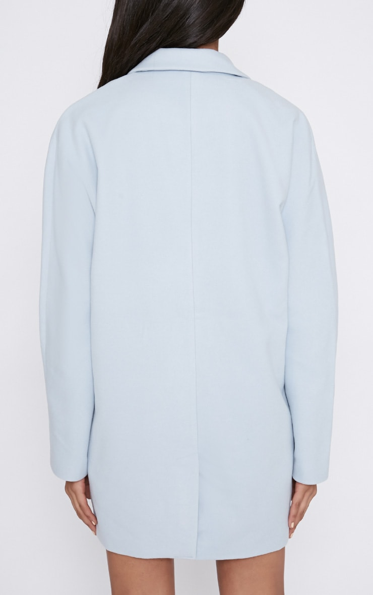 Hope Ice Blue Boyfriend Coat  2