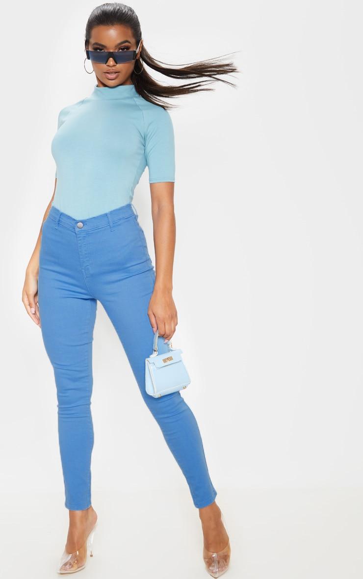 Charcoal Blue Disco Skinny Jean 1