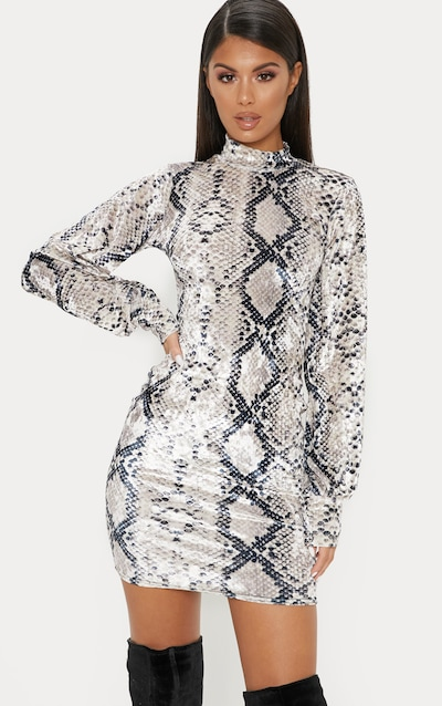 Glitter hollow out bodycon dress – ellebabe