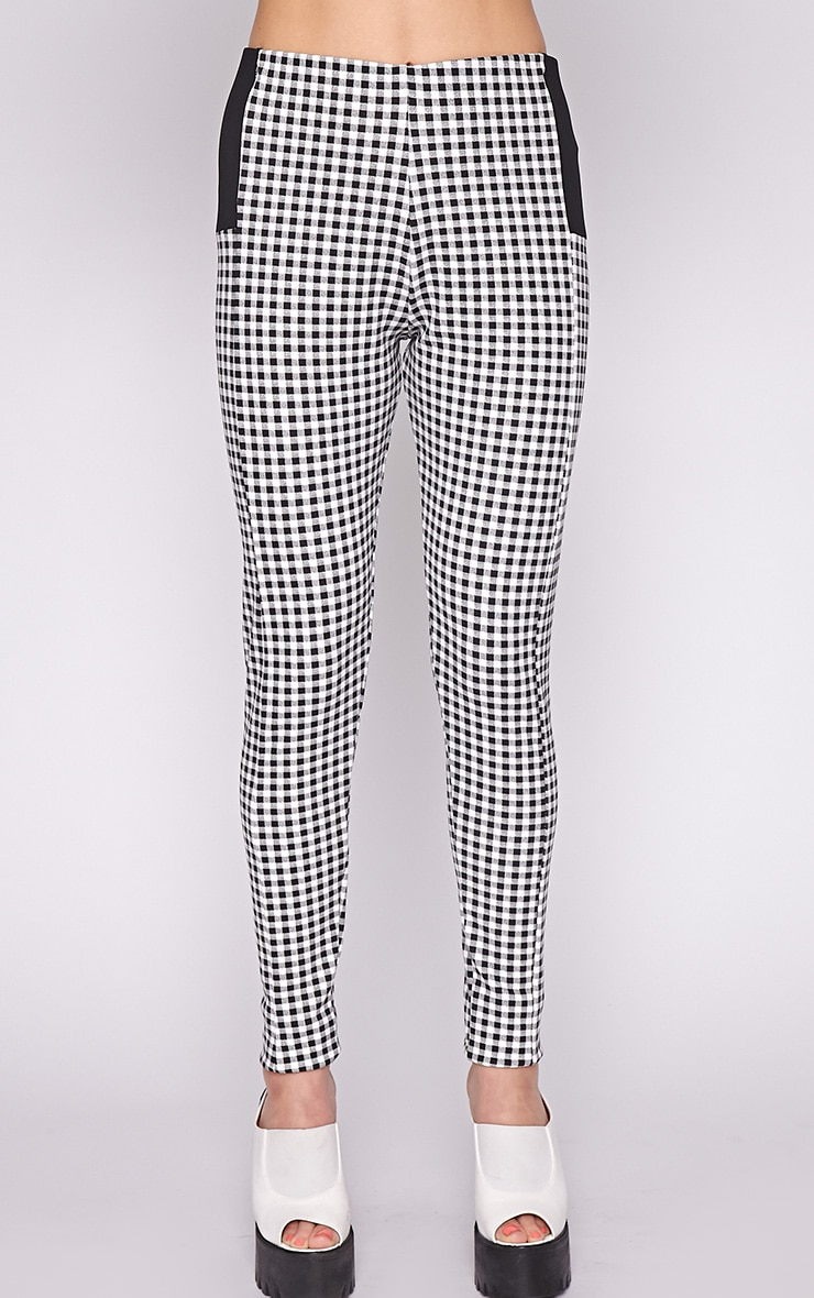 Luana Monochrome Gingham Legging 2