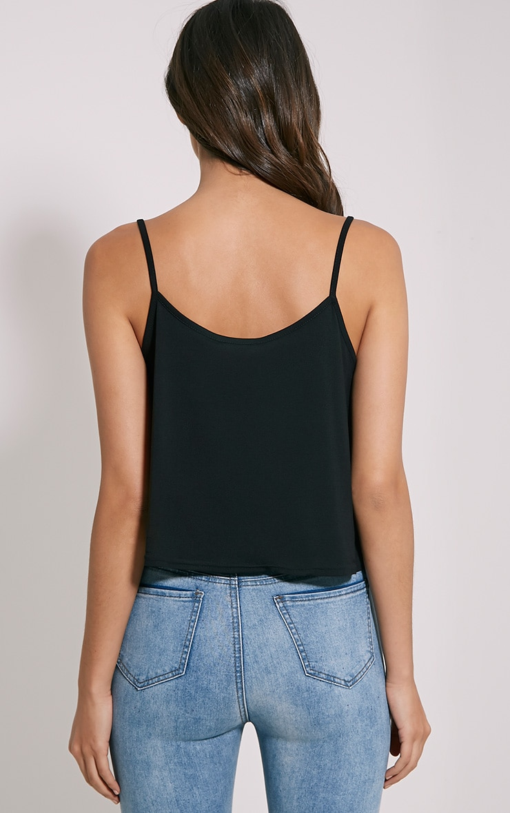 Basic Black Jersey Swing Cami Top 2