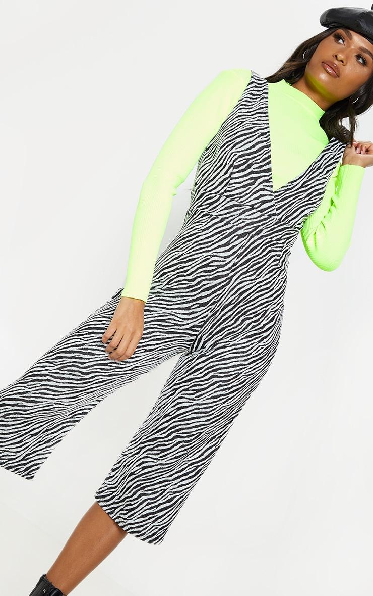 Zebra Print Plunge Jumpsuit  5