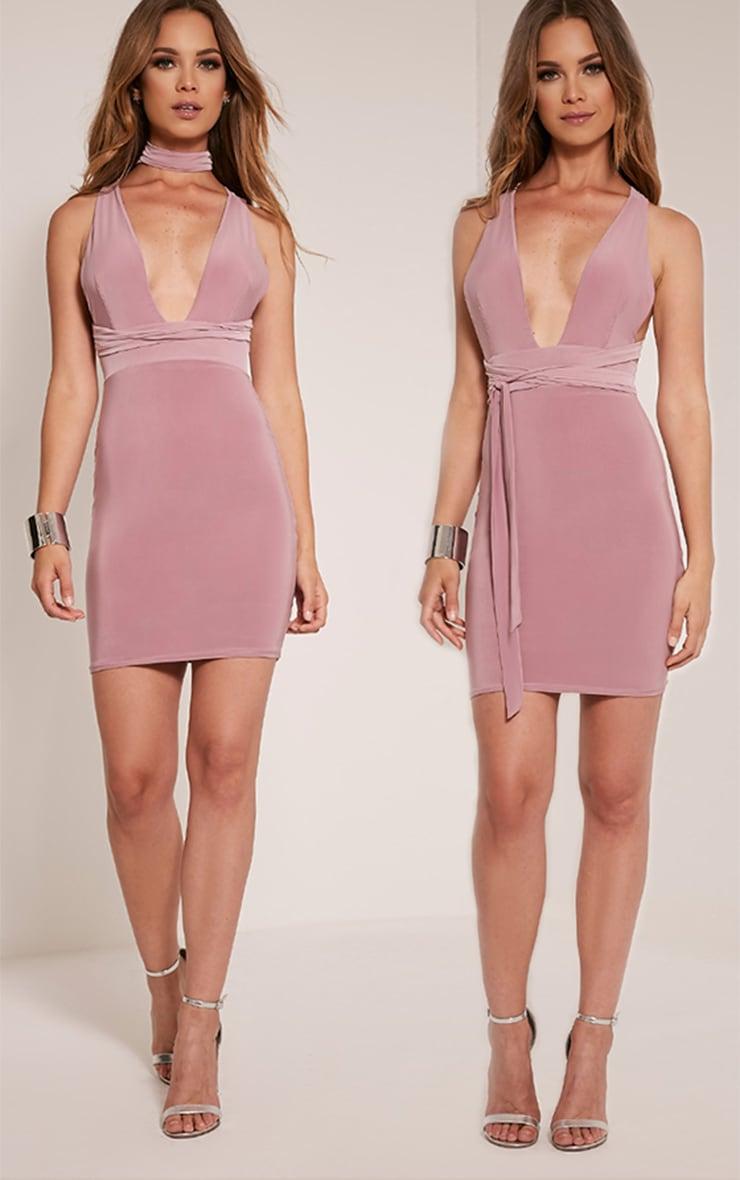 Lidia Mauve Multiway Bodycon Dress 1