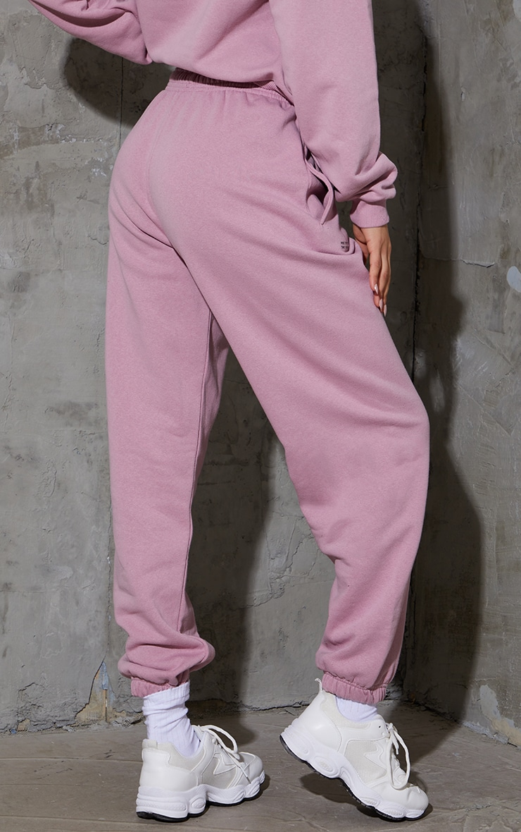 PRETTYLITTLETHING Dusty Pink Est 2012 Joggers 3