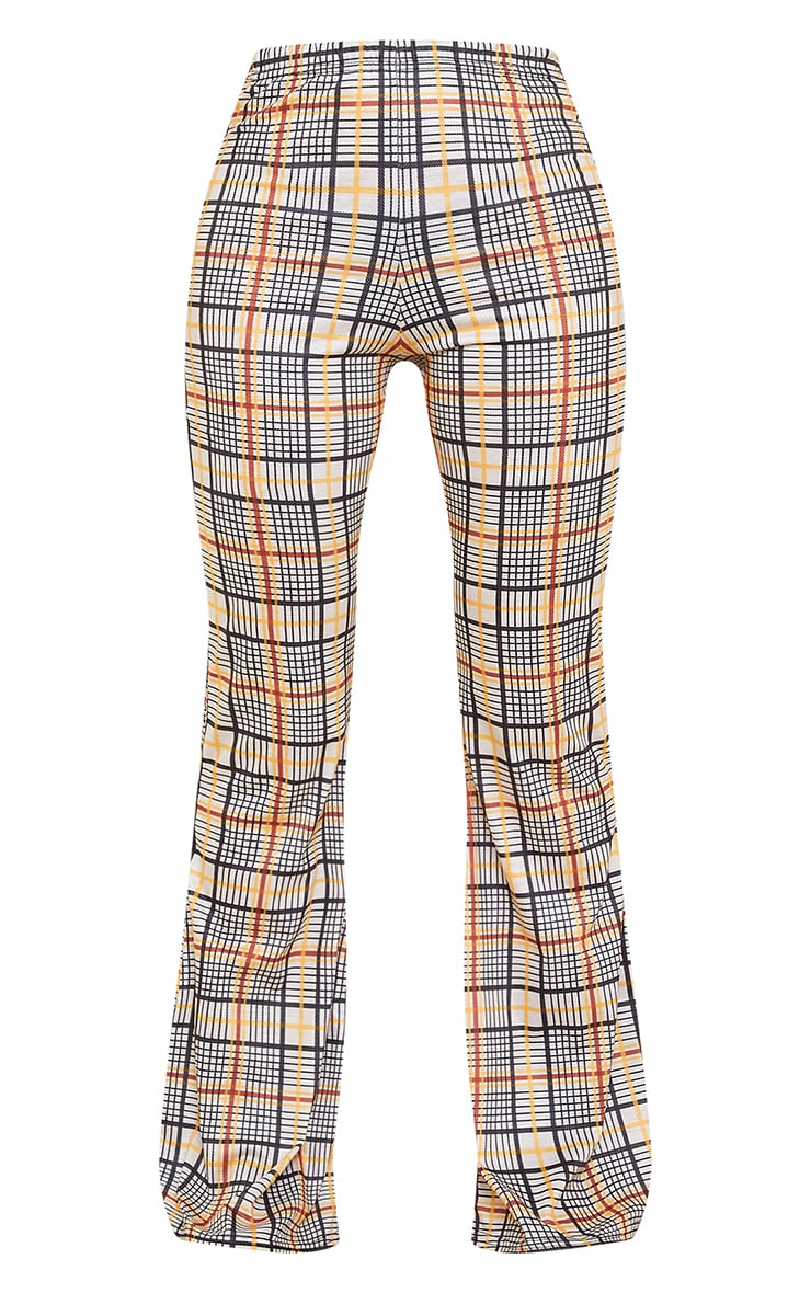 Stone Check Flared Pant 5