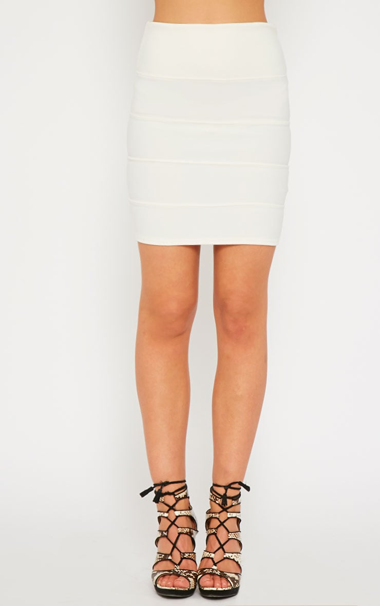 Anel Cream Bandage Mini Skirt  2