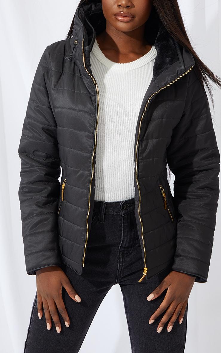 Tall Black Mara Puffer Jacket 4