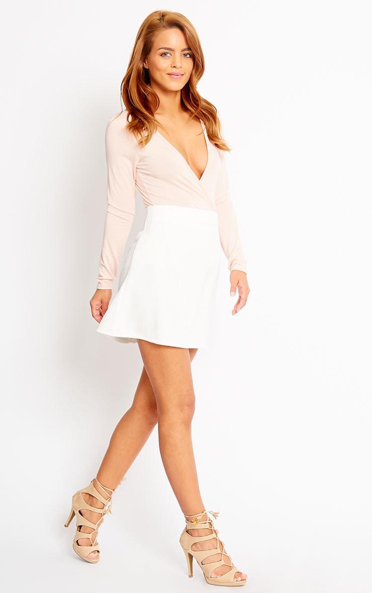 Rori Ivory Crepe A Line Mini Skirt 5