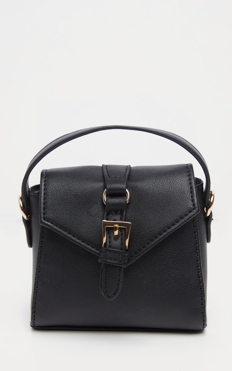 Black Buckle Detail Single Handle Mini Bag 2