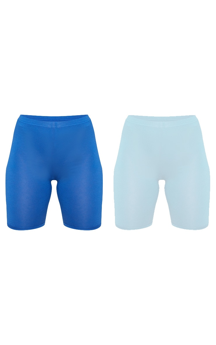 Dusty Turquoise & Midnight Blue Basic Cycle Short 2 Pack 3