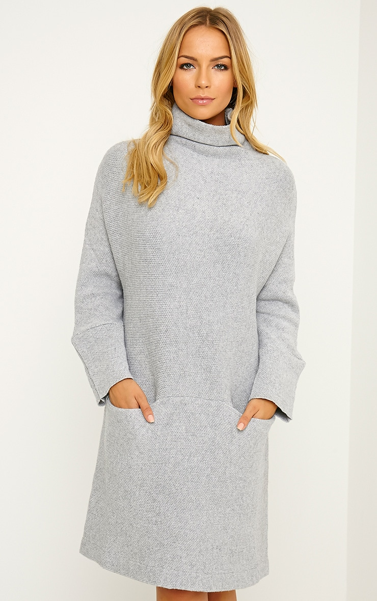 Nim Grey Oversized Knitted Dress 1