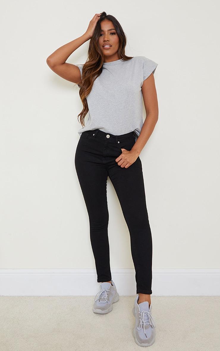 Black Basic High Waisted 5 Pocket Skinny 1