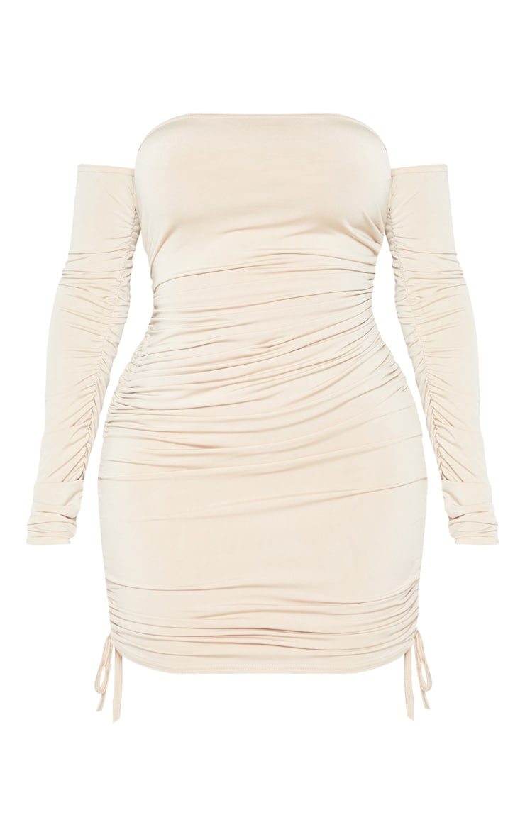 Shape Stone Slinky Ruched Side Bodycon Dress 3