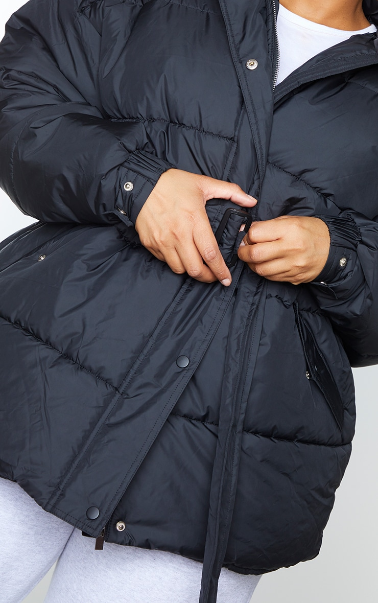 Plus Black Belted Puffer 4
