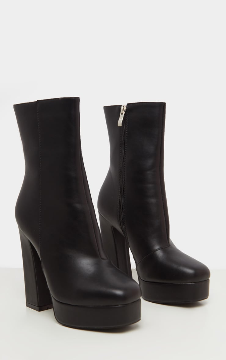 Black Platform Ankle Boot 3