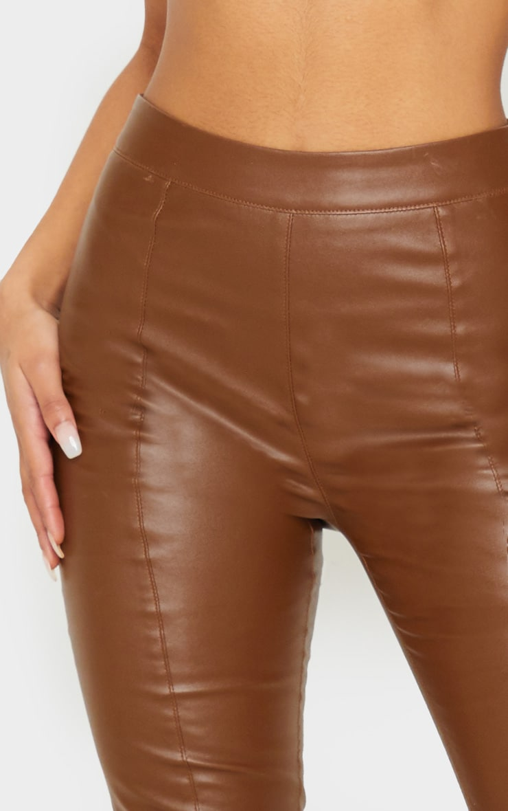 Chocolate Daysha Cropped Faux Leather Pants 5